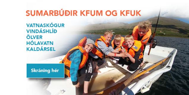 Skráning í sumarbúðir KFUM og KFUK